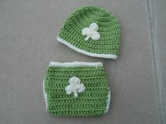 Irish Baby Hat and Diaper Cover Set with by DavlinDesigns on Etsy, $25.00