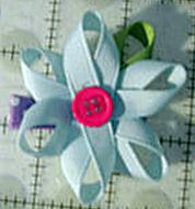 Free instructions for button flower clip