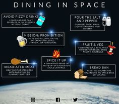 Dining in space.  #spacelive