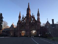 Beautiful entrance to Greenwood Cemetery. Greenwood Cemetery, Barcelona Cathedral, Entrance, Brooklyn, Travel, Beautiful, Entryway, Viajes, Door Entry