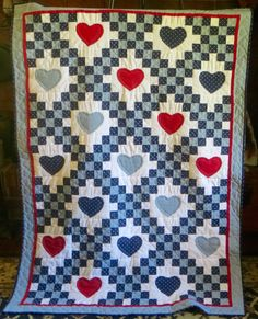New Baby Quilt, Machine Pieced, Hand Appliqued, Hand Quilted $85 #Unbranded