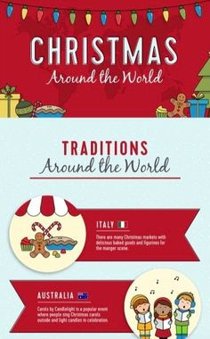 Your Guide to Christmas Traditions Around The World [Infographic] - Your guide to Christmas traditions around the world, Christmas traditions, holiday traditions, holi - Holiday Celebrations Around The World, Celebration Around The World, Holidays Around The World, Around The Worlds, Merry Christmas Happy Holidays, Winter Holidays, Christmas Time, Christmas Ideas, Jamel