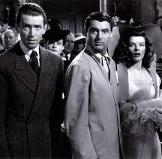 Jimmy Stewart, Cary Grant, Katharine Hepburn in Philadelphia Story