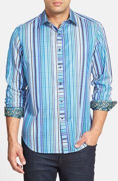 Robert Graham 'Exmoor' Classic Fit Stripe Sport Shirt