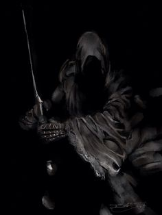 Nazgul (a Ring Wraith from The Lord of the Rings) done on my iPad using the app Paper by FiftyThree
