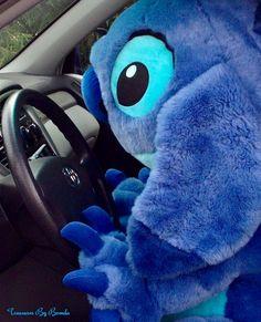 Stitch behind the wheel.