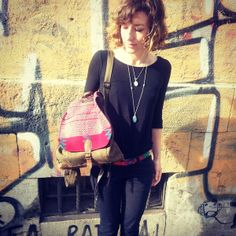 HUIpil leather backpack de mayasdeberlin por DaWanda.com