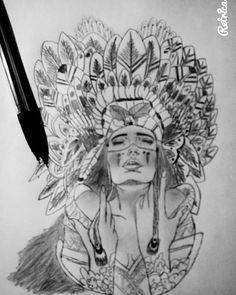 Tumblr indienne   •dessin crayon•