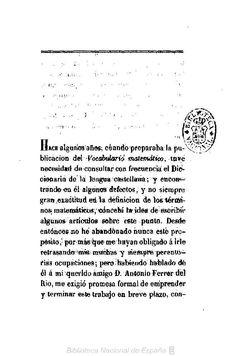 El tecnicismo matemático en el Diccionario de la Academia Española. Picatoste, Felipe 1834-1892 — Libro — 1873