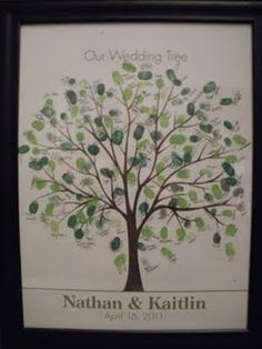 My friend, Kaitlin, had this instead of a sign in book for her wedding. I love it! I think it'd be a great DIY project to have family put their print on. @Jessica Mayfield, have you seen this?