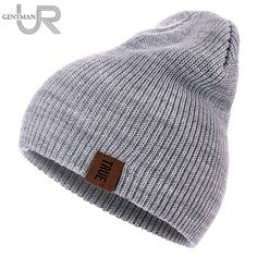 1 Pcs Hat PU Letter True Casual Beanies for Men Women Warm Knitted Winter  Hat Fashion Solid Hip-hop Beanie Hat Unisex Cap. CalienteGorrasSombreros ... e140ea79a88