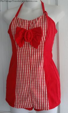 Red Gingham Times Two | The Vintage Traveler http://thevintagetraveler.wordpress.com/2014/03/18/red-gingham-times-two/