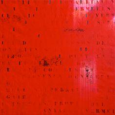 Els vermells del negre. Acrílic i grafit sobre tela. 120 x 120 cm