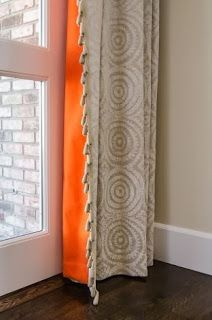 """Drapery -- a Dimitra Anderson favorite: """"Window treatments can instantly transform and complete a room."""" Photo: Fotomokio~ reference about color pop. Love these curtains! Decor, Soft Furnishings, Home Accessories, Interior, Colorful Curtains, Lined Curtains, Home Decor, Curtains, Furnishings"""