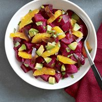 Runner's World: Beets with Avocado and Orange