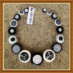 Monochrome Button Necklace