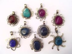 Handmade Agate Stone Pendants. Click the link to purchase our unique handmade Peruvian jewelry at awesome wholesale prices (includes shipping & insurance!)  Make money with your own online or offline business selling Peruvian Jewelry or save big on beautiful gifts for yourself or that special someone! Click here:  http://www.wholesaleperuvianjewelry.com/
