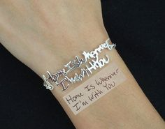 Signature Bracelet in Sterling Silver/Handwriting bracelet/Handwritten Bracelet/ Signature /Christmas Gift