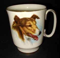Royal-Windsor-Fine-Bone-China-DOG-Collie-Face-COFFEE-MUG-TEA-CUP-Ceramic-England