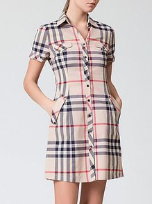 SheIn offers Beige Lapel Short Sleeve Check Print Pockets Dress & more to fit your fashionable needs. Simple Dresses, Cute Dresses, Casual Dresses, Short Dresses, Fashion Dresses, Kurta Designs Women, Blouse Designs, Clothes For Women, Trending Outfits