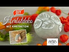 DIY: hübsche Herbstdeko mit Knetbeton [How to] Deko Kitchen - YouTube