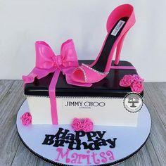 @Regranned from @pepsycakesdesigns - High Heel Jimmy Choo Cake #jimmychooheelspink