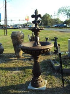 Tall Fleur De Lis Fountain Made In The USA