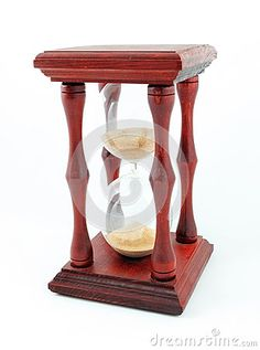 Hourglass, sandglass sand timer sand clock isolated white