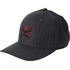 Mens Cowboy Hats HOOey Black Pin Strip Cowboy Cap