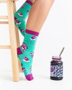 K Bell When Pigs Fly Baby Blue Women/'s Knee High Socks