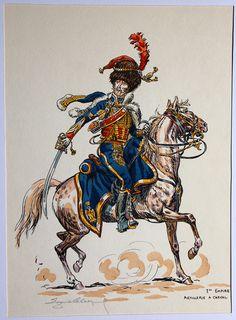 Ufficiale dell'artiglieria a cavallo della guardia imperiale