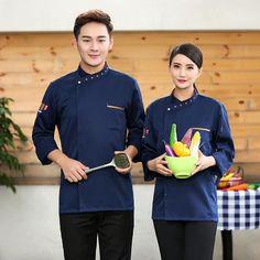 Restaurant & Food Service Bright Short Sleeve Kitchen Cooker Working Uniform Chef Waiter Waitress Coat Jacket Cheap Sales 50% Uniforms & Aprons