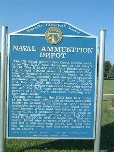 6. The Naval Ammunition Depot in Hastings was the largest U.S. ammunition plant, providing 40% of WWII's ammunition.