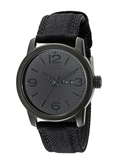 VIGOROSO Mens Fashion Casual Popular Dress Stainless Steel All Black Wrist Watch >>> Find out more about the great product at the image link.