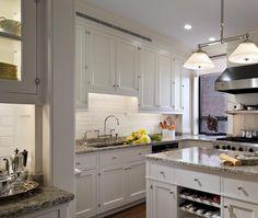 White Kitchen Grey Countertop