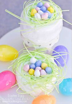 Easter Egg Nest Cakes - Sweet C's Designs