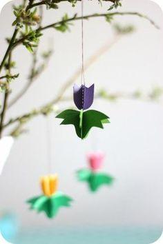 zimmer deko diy tulpe aus papier basteln