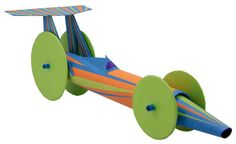 Racer - Homemade Transport Themed Toilet Paper Roll Crafts. http://bit.ly/1cmK7x7, #diy, #cardboard, #toy