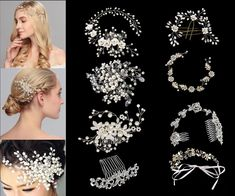 6 Matrimonio Prom Cristallo Diamante Viola Clip Capelli Pin Grip