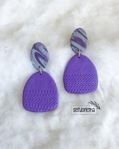 Polymer Clay Earrings, Coin Purse, Drop Earrings, Purses, Wallet, Link, Jewelry, Instagram, Ideas