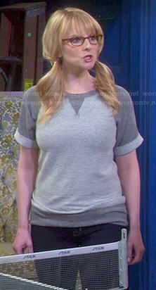 Bernadette's grey sweatshirt on The Big Bang Theory.  Outfit Details: http://wornontv.net/47565/ #TheBigBangTheory