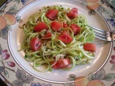Zucchini Spaghetti with Olive Oil, Garlic, and Fresh Tomatoesis so delicious and healthy, you will wonder why you didn't try it sooner. It has a great flavor that will leave you wanting more. I enjoyed it so much that now I'm wondering why I didn't try it sooner myself.