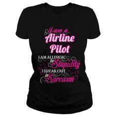 (Tshirt Sale) Airline Pilot Sweet Heart [Tshirt Facebook] Hoodies, Funny Tee Shirts