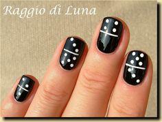 Raggio di Luna Nails, 12/3/12: Domino manicure