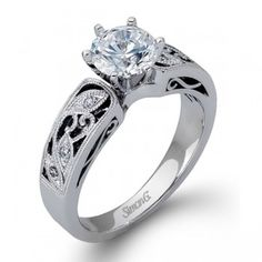 Simon G LP1355 Engagement Ring- Genesis Diamonds