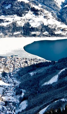 Famous Ski Resort in Zell am See, Austria
