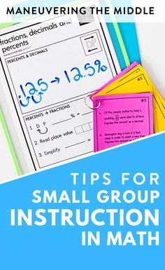 Many students come into our classroom with some gaps in their math knowledge. We can use small groups to fill those gaps. Watch the video or read the post to learn more… More
