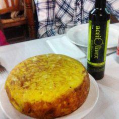#Tortilla de #Patatas hecha con #aceite de #oliva #virgen #aceitolivex!  Ummmm!