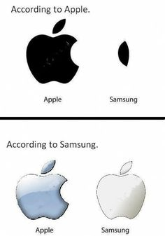 Apple vs Samsung  - funny pictures - funny photos - funny images - funny pics - funny quotes - #lol #humor #funny