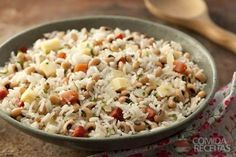 Receita de Baião de dois saboroso em receitas de legumes e verduras, veja essa e outras receitas aqui!    Conversion table!!